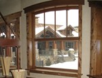 Aluminium and wood triple glazed window CLIM'A - ALBERTINI