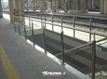 Glass and Stainless Steel Stair balustrade ATENA - FARAONE