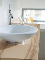 Lavabo da appoggio rotondo in ceramica BAGNELLA | Lavabo da appoggio - DURAVIT Italia
