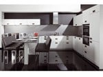 Linear lacquered kitchen AZ1 Light Grey Uni - Allmilmö
