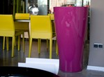 - Polyethylene vase with Light CURVADA - VONDOM