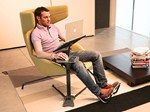 Tavolino in metallo per pc LOUNGE-BOOK STANDARD - LOUNGE-TEK