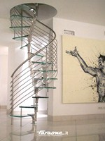 Glass and Stainless Steel Open staircase / Spiral staircase FARAONE | Open staircase - FARAONE