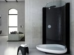 Corner shower cabin BEYOND - GLASS IDROMASSAGGIO