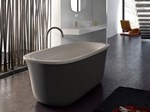 Freestanding oval bathtub MALMÖ - GLASS IDROMASSAGGIO