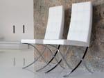 - Silla tapizada de cuero de estilo moderno MUSEUM - ITALY DREAM DESIGN