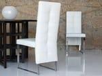 - Silla patín tapizada de cuero de estilo moderno NIZZA - ITALY DREAM DESIGN