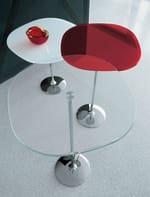 Tavolino rotondo in vetro TULIP SHAPED - SOVET ITALIA