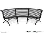 - Banco curvo modular de metal de estilo tradicional con respaldo Panchina Clematis Seduta lato Concavo - DIMCAR