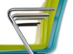 Sedia visitatore agganciabile in plastica con braccioli TOOL 2 | Sedia con braccioli - Brunner