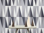 Geometric Optical nonwoven wallpaper SPEAR | Wallpaper - ferm LIVING