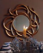 Framed round mirror MEDUSA - Adonis Pauli HOME JEWELS