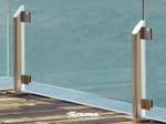 Baranda de escalera en aluminio y vidrio MAIOR   Baranda de escalera en aluminio y vidrio - FARAONE