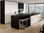 - Lacquered kitchen with island MODERN ART High gloss - Allmilmö