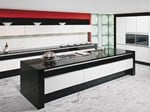 - Lacquered kitchen with island MODERN ART High gloss lacquer - Allmilmö