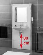 Struttura motorizzata per lavabo SANIMATIC WASH BASIN - SFA