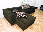 Design sectional upholstered velvet sofa with footstools MINO Design sofa - Resmita/Desforma line furniture