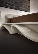 Wooden storage bed ALADINO - MAZZALI