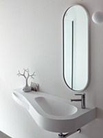 Wall-mounted Korakril™ washbasin with towel rail BOMA | Washbasin with towel rail - Rexa Design