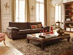 - 3 seater leather sofa ASCOT - ROCHE BOBOIS