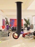 Central hanging steel fireplace RENZOFOCUS - Focus