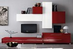 Sectional wall-mounted storage wall MARTINA | Storage wall - Cucine Lube