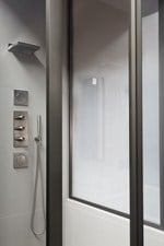 Custom glass shower wall panel Glass shower wall panel - ARMANI / ROCA