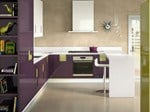 Lacquered kitchen with island CARRÉ 02 - ERNESTOMEDA