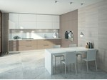 - Linear wood veneer kitchen ONE+ - ERNESTOMEDA