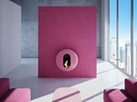 Wall-mounted carbon steel fireplace BB_I - ANTRAX IT