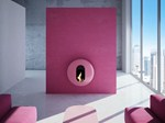 Wall-mounted carbon steel fireplace BB - ANTRAX IT