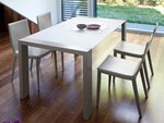 - Lacquered rectangular wooden table FASHION-160 - DOMITALIA
