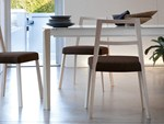 Extending rectangular wooden table UNIVERSE 130 | Wooden table - DOMITALIA