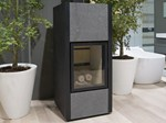 Wood-burning steel stove CALIENTE - Antonio Lupi Design®