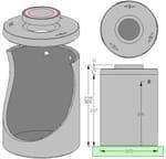 Tanque, cisterna y depósito para instalación de agua Vasca cls stagna capacità Litri 3.000 - ALDO LARCHER