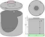 Tanque, cisterna y depósito para instalación de agua Vasca cls stagna capacità Litri 5.100 - ALDO LARCHER