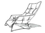 Sled base leather armchair GRANDTOUR   Armchair - Zanotta