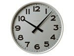 Wall-mounted aluminium clock CLASSICO - KRIPTONITE