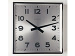 Design wall-mounted aluminium clock CLASSIC SQUARE - KRIPTONITE