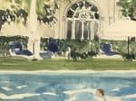 - Landscape panoramic wallpaper LE LIDO LA PISCINE DE L'HOTEL DES BAINS - Incréation