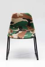 Cadeira de tecido estilo art déco ARMY   Cadeira - KARE-DESIGN