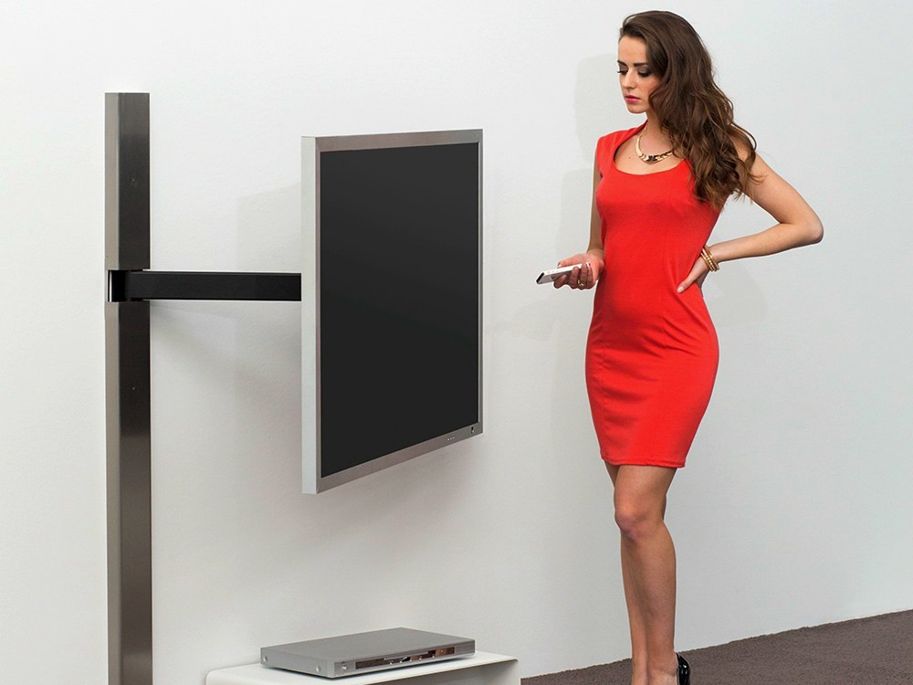 128 adjustable tv cabinet by wissmann raumobjekte. Black Bedroom Furniture Sets. Home Design Ideas