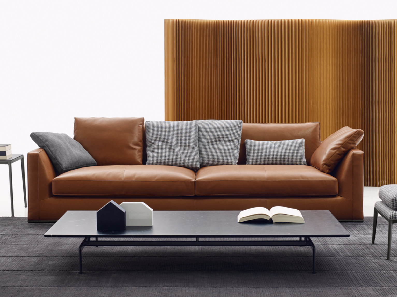 3 Seater Leather Sofa Richard Collection By B B Italia Design Antonio Citterio