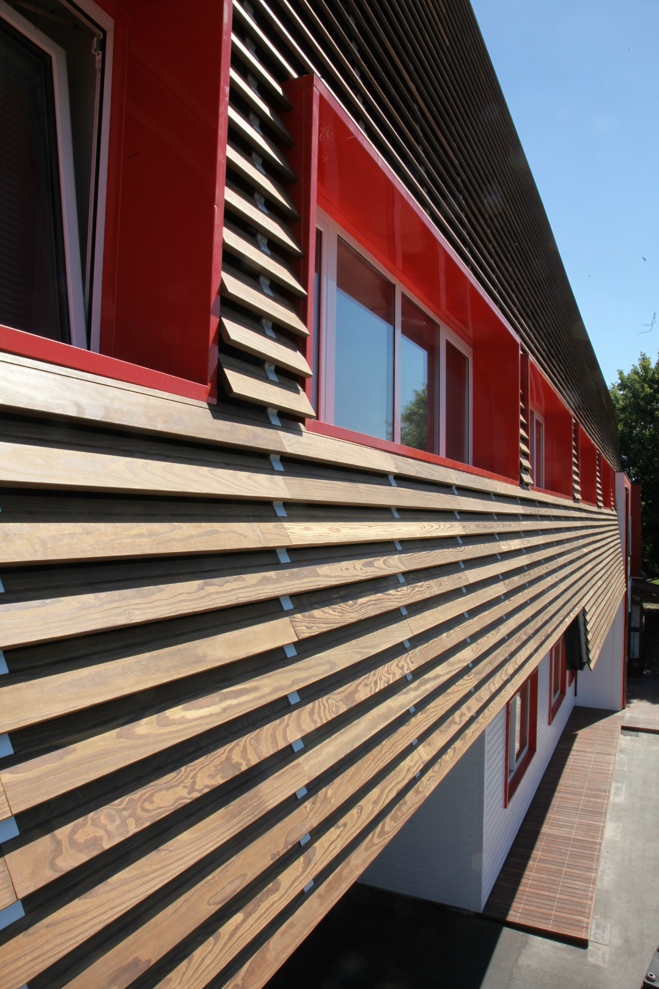 wood panel for facade solar shading 4sun by ravaioli legnami. Black Bedroom Furniture Sets. Home Design Ideas