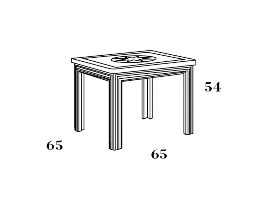 Tavolo quadrato in legno per bambini 672 tavolo per - Tavolo contenitore bambini ...