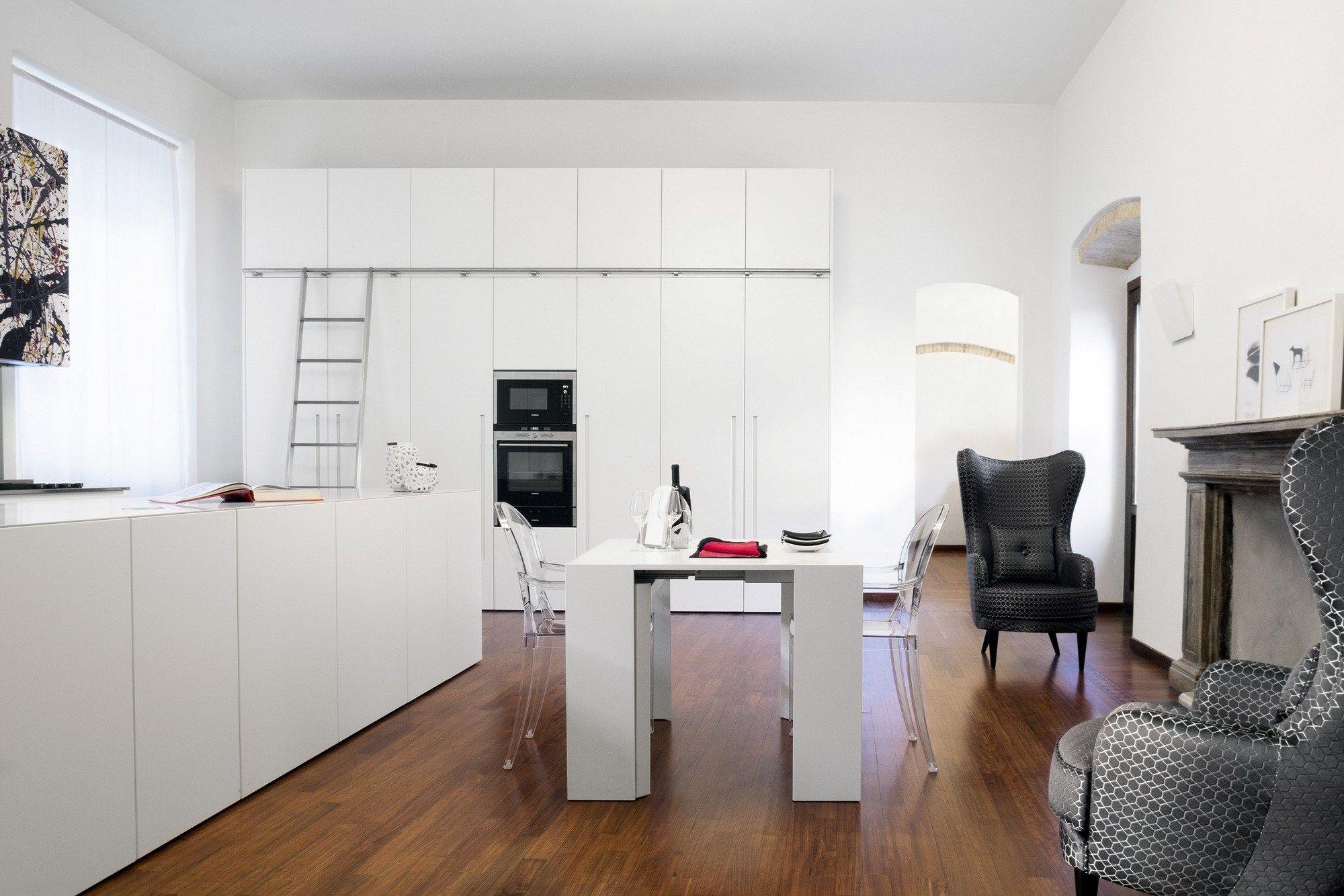 Cucina su misura con isola composizione 7 t45 t45evo d90 by tm italia cucine - Cucina su misura milano ...