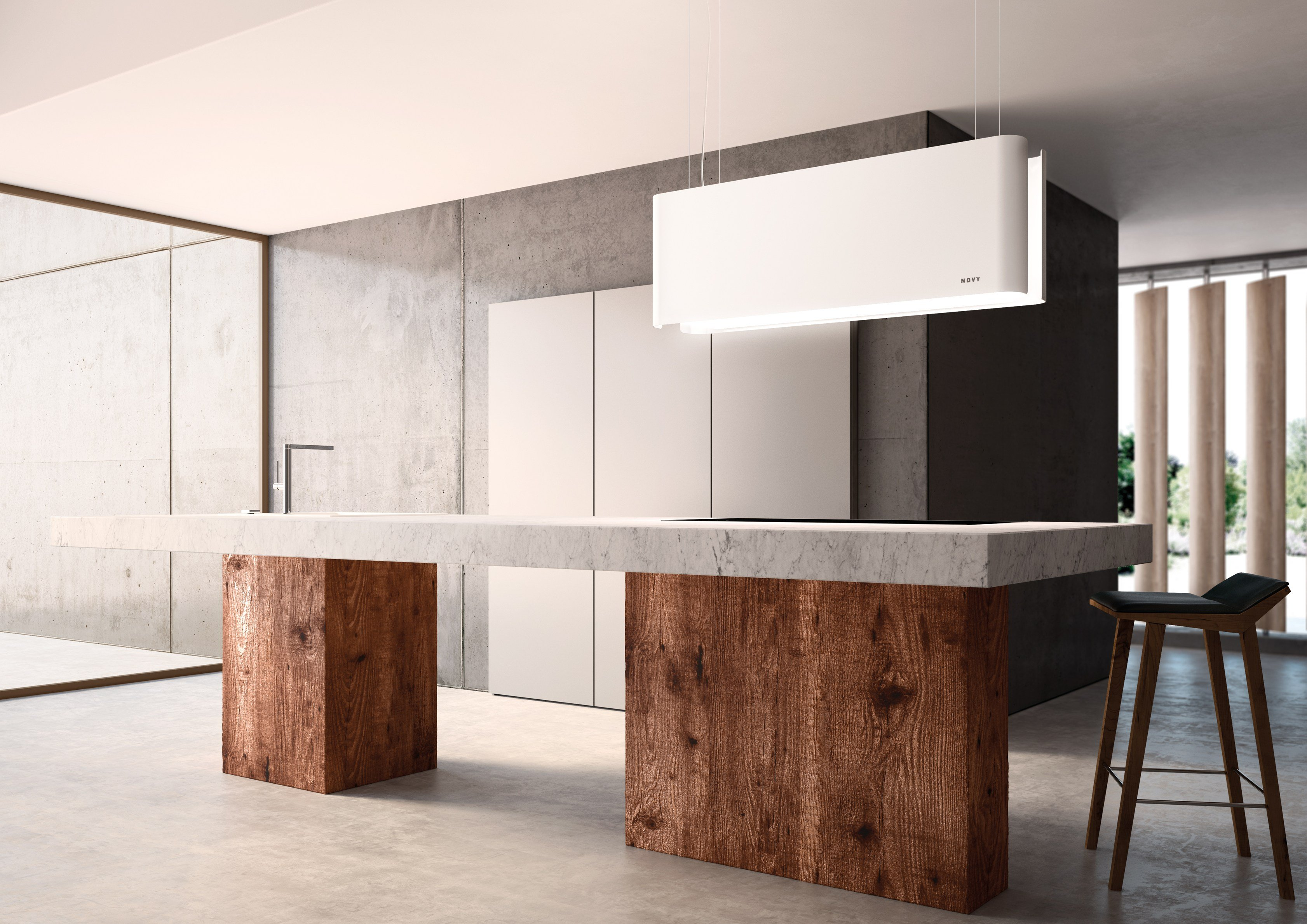 Island hood with integrated lighting 7550 MOOD by NOVY