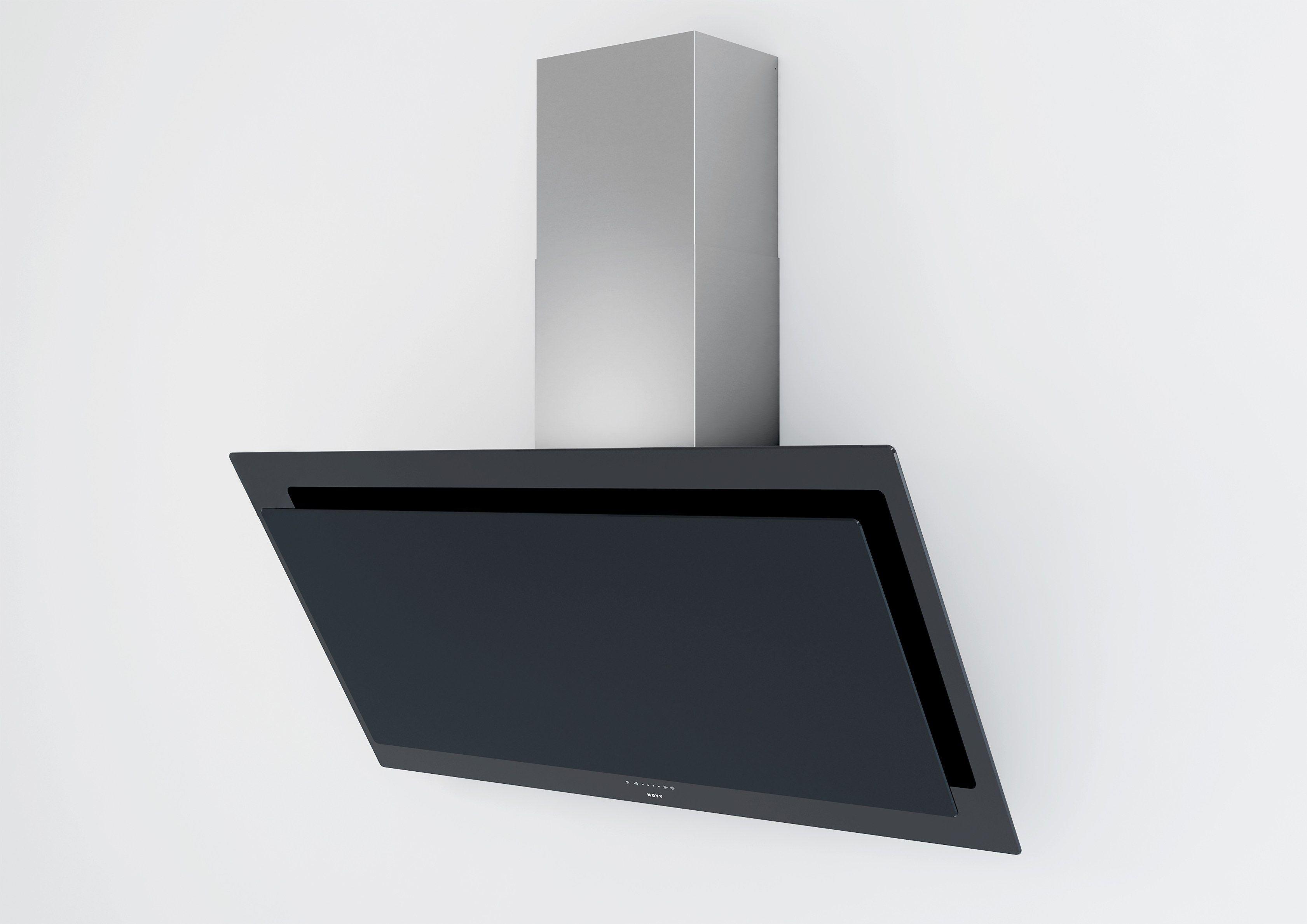 dunstabzugshaube aus glas im modernen stil zur wandmontage. Black Bedroom Furniture Sets. Home Design Ideas