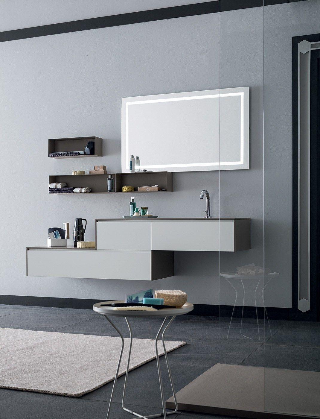 Mobile lavabo sospeso con cassetti 84 3 0 by rab - Lavabo sospeso con mobile ...