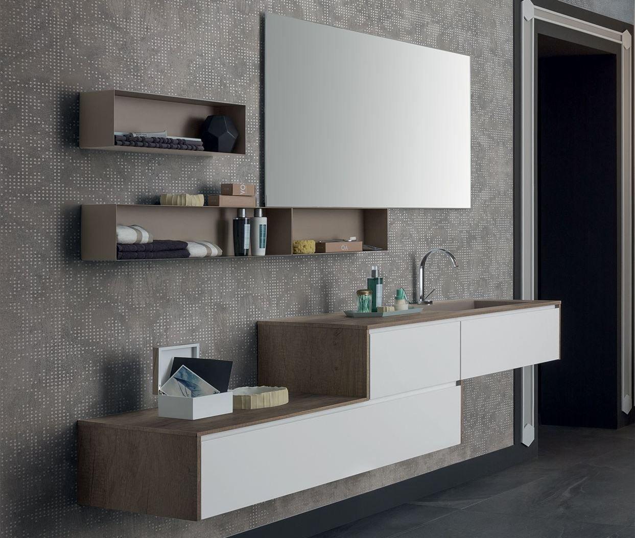 Mobile lavabo singolo sospeso con cassetti 86 3 0 by rab arredobagno design ufficio tecnico - Santarossa mobili prezzi ...